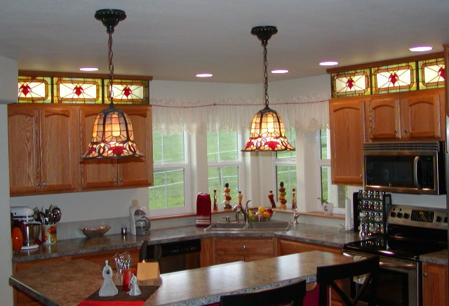 Stained glass for kitchen